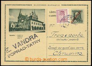 71620 - 1947 CDV79/17, Přetisk ČESKOSLOVENSKO - Levoča, červený