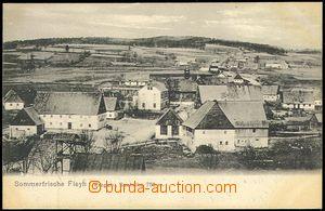 71706 - 1920 FLÁJE (Fleyh) - village square, firehouse, church; Us,