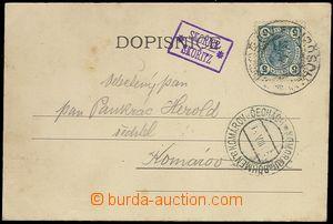 71913 - 1905 poštovna SKOŘICE/ SKOŘITZ, kat. Geb.1198/1., krásn�
