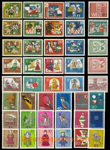 71933 - 1956-69 BUND + Berlin, comp. of 9 complete sets For Children