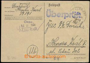 71975 - 1944 preprinted postcard German FP sent by member of Protect
