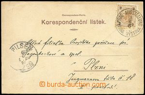 72022 - 1895 postcard Old Prague, color lithography, sent from ethno