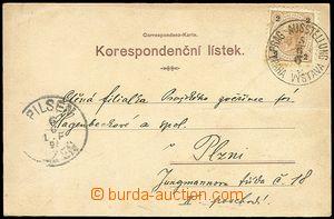 72022 - 1895 pohlednice Staré Prahy, barevná litografie, zaslána