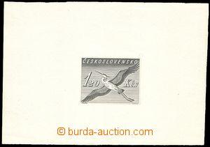 72041 - 1959 otisk původní rytiny pro tisk známky  aerogramu CAE1