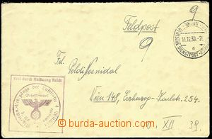 72074 - 1939 letter German field post from member of air-mail format