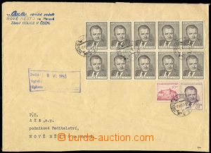72103 - 1953 firemní dopis z neděle 7.6.1953 (!) vyfr. zn. Pof.489,