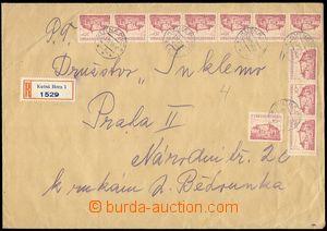 72108 - 1953 R dopis z 1.dne (!) měnové reformy vyfr. zn. Pof.521 11