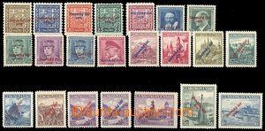 72112 - 1939 Alb.2-22 + 19b přetiskové, kompl.série, vše zkoušeno, v