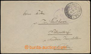 72115 - 1919 letter with oval cancel. POST/ 31. Regiment Czechoslova