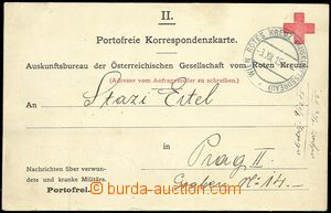 72124 - 1915 off. PC from informative office Austrian of Red Cross a