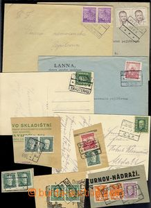 72140 - 1926-51 comp. 5 pcs of entires with cancel. railway-station