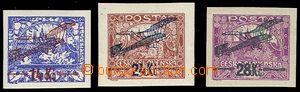 72150 - 1920 Pof.L1-3, I.emise, pěkné okraje, u č.1  lep lehce ne
