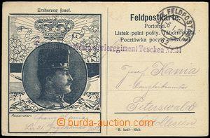 72155 - 1916 lístek FP s obrázkovým přítiskem arcivévody Josef