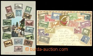 72160 - 1910 stamps on picture-postcards, Bosnia and Herzegovina, co