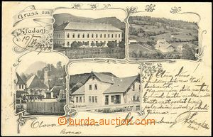 72162 - 1903 KLADANJ -  B/W collage, 5-views, long address, used, se
