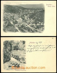 72164 - 1898-99 MOSTAR, BANJA LUKA - comp. 2 pcs of monochrome Ppc,
