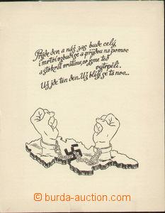 72174 - 1941 pamětní dvoulist vydaný v Anglii u příležitosti 2
