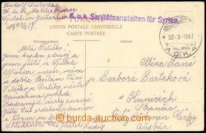 72175 - 1917 postcard Jerusalema  to Bohemia as FP, CDS A.O.K.4/ 22-