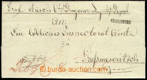 72176 - 1820 folded letter Ex offo, off. militar, straight line post