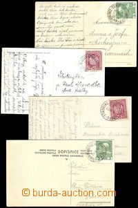 72211 - 1900-18 comp. 8 pcs of Ppc with cancel. railway post office,