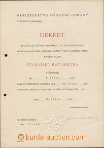 72230 - 1946 Gen. SVOBODA Lewis, minister national defence, autograp