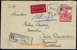 72303 - 1939 R + Ex letter to Bohemia-Moravia BOHEMIA-MORAVIA, frank