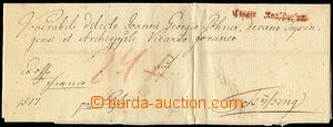 72338 - 1789 folded pre-philatelic letter with red straight line pos