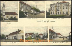 72344 - 1920? HRABYNĚ - 6-view, colored, Un, nice quality