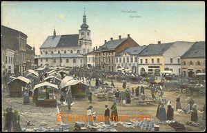 72350 - 1911 HOLEŠOV - trh na náměstí, barevné, použité, dob�