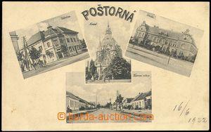 72352 - 1922 POŠTORNÁ - 4-view,  B/W, Un, preserved