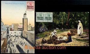 72402 - 1910-12 sestava 2 ks pohlednic se známkou na lícní straně, v