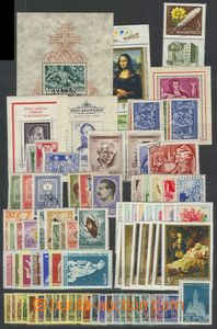 72426 - 1930-60 comp. of stamps, miniature sheets, complete sets on