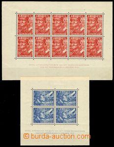 72432 - 1942 Mi.Bl.1-2, Nizozemská legie, 1x stopa po nálepce, 1x či