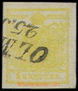 72437 - 1850 Mi.1Y, MP, III.typ, pěkný kus, atest Babor