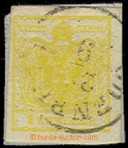 72439 - 1850 Mi.1Y, MP, typ III., citronově žlutá barva, vzadu zb
