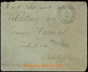72485 - 1891 letter without franking, black cancel. FRANCO + CDS K.