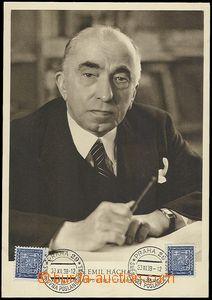 72492 - 1938 HÁCHA Emil (1872–1945), president, double unfolded p