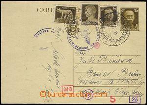 72496 - 1941 YUGOSLAVIA  dopisnice Mi.P85, dofr. italskými zn. Mi.2