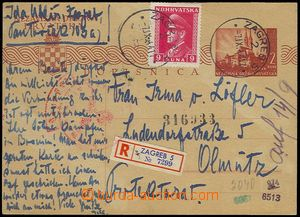 72506 - 1944 PC Mi.P4A sent as Reg, uprated. Mi.139, CDS Zagreb 5/ 7