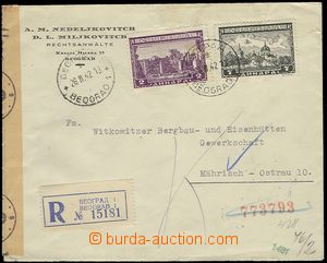 72532 - 1942 Reg letter with Mi.75, 79, CDS BELGRADE/ 26.II.42, Reg