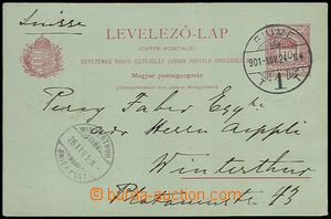 72542 - 1901 Hungarian PC Mi.P27, CDS FIUME/ 24.NOV.901, addressed t