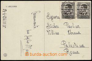 72545 - 1941 YUGOSLAVIA  pohlednice odeslaná z okupované Ljubljany