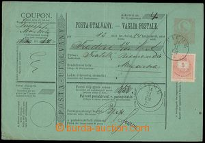 72568 - 1875 whole Hungarian postal order Mi.A6 with printed stamp.