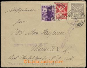 72768 - 1920 letter with Pof.162 (Husita),151 and 152, single circle