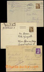 72778 - 1944 KT TEREZÍN  3ks dopisnic zaslaných z ghetta Terezín