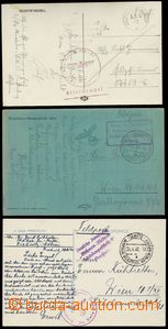 72783 - 1939-41 3 pcs of Ppc sent through/over German Off. Mail.., 1