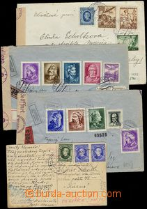 72806 - 1940-45 sestava 3ks  R+Ex+Let dopisů do protektorátu ČaM