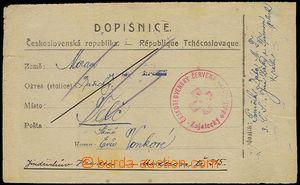 72818 - 1918 RUSKO  dopisnice odeslaná z Jekatěrinburgu do Telče,