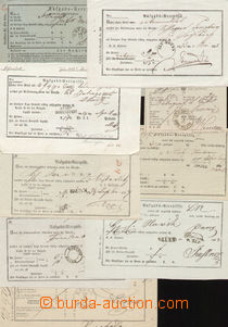 72853 - 1830 comp. 9 pcs of various  postal  blank forms - receipts,