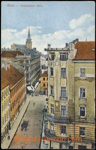 72859 - 1914 BRNO - Solniční ulice, neobvyklý pohled; prošlá, odřené